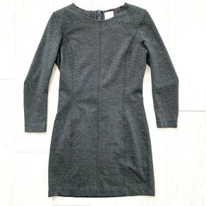 InWear Womens Long Sleeve Dress Bodycon Mini Gray